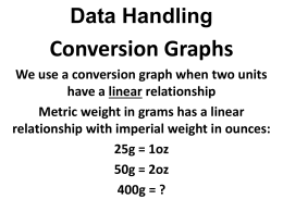 Data Handling Conversion Graphs