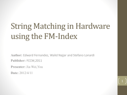 String Matching in Hardware using the FM