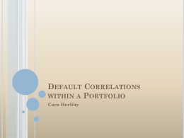 Bond Portfolios and Default Correlations