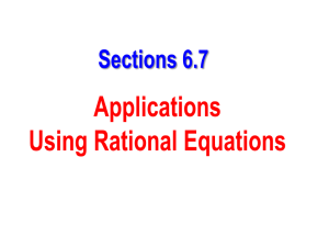 Section 6.7 - Applications