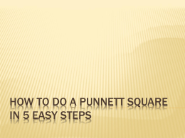 How to do a Punnett Square in 5 Easy Steps notes