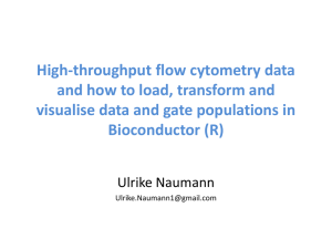 High-thoughput/flow cytometry data and how to load