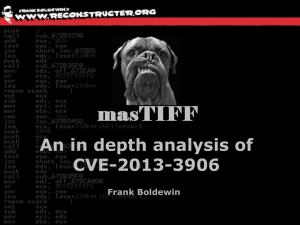 masTIFF - An in depth analysis of CVE-2013