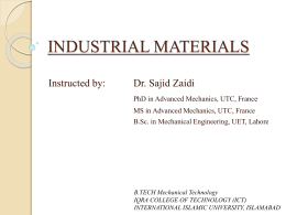 INDUSTRIAL MATERIALS - B Tech Mechanical Engineering