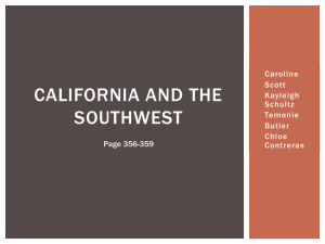 California and the Southwest - CLS