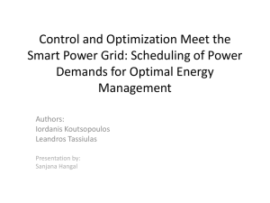 Control and Optimization Meet the Smart Power Grid: Scheduling of