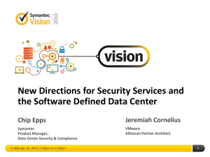 Vision 2013 - Security Services and the SDDC
