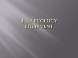Ecology Equipment Ppt