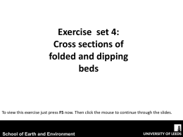 Cross sections of folded and dipping beds