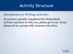 Intro to Writing Activities