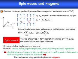 spin waves and magnons pdf