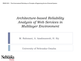Architecture-based Reliability Analysis of Web Services in - S-Cube