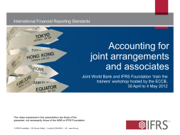 Accounting for joint arrangements and associates