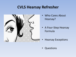 Hearsay Powerpoint Presentation
