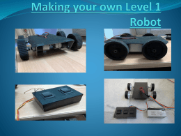 to make a robot on your own