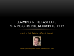 Learning In the fast lane: new insights into