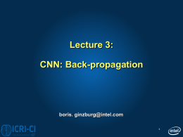 Lecture 3 CNN - backpropagation