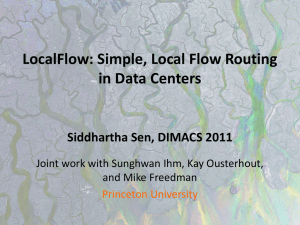 Simple, Local Multi-Commodity Flow Routing in Data Centers