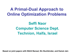 Online Primal-Dual Algorithms for Covering and Packing Problems