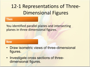 12-1 Representations of Three-Dimensional Figures