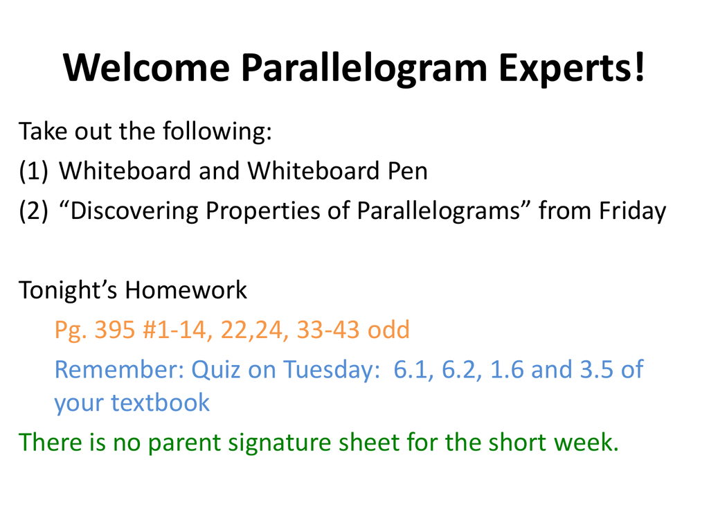 worksheet Properties Of Parallelograms Worksheet 6 2 properties of parallelograms