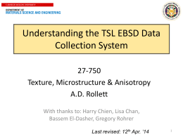 EBSD Data Acquisition guide