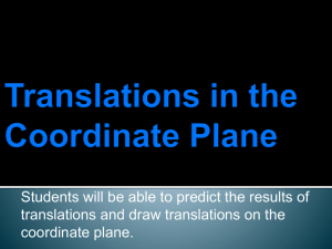 Translations in the Coordinate Plane