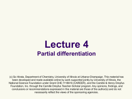 powerpoint - University of Illinois at Urbana