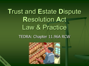 TEDRA is a - Advocates Law Group