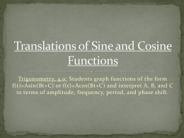 PC 01-26n27 Translations of Sine and Cosine Functions
