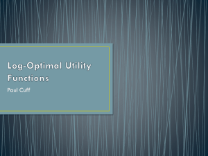 ITA 2012 — A Class of Log-optimal Utility Functions