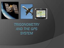 Trigonometry and The GPS System