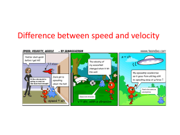 Difference between speed and velocity - mirnay