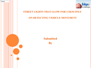 smart street light system for power saving using pic
