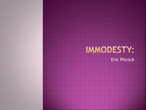 Immodesty - Shield of Faith TV