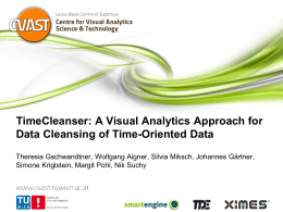 A Visual Analytics Approach for Data Cleansing of Time