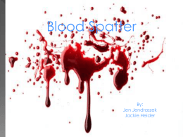 Ch 10 Blood Spatter Labs. pt