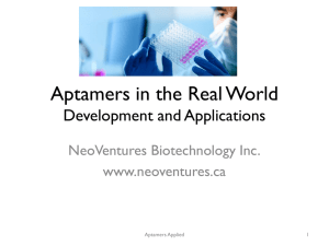 Aptamers is the real world: problems and opportunities