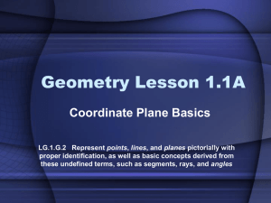 Geometry Lesson 1.1