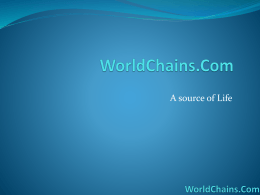 Worldchains MLM Plan Presentation