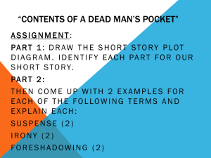 Contents of a Dead Man*s Pocket