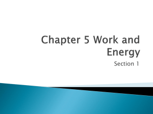 Example Chapter 5 Work and Energy