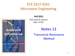 Transverse resonance method