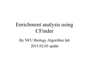 Enrichment analysis using C