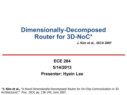 Dimensionally-Decomposed Router for 3D-NoC*