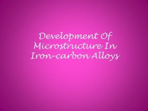 DEVELOPMENT OF MICROSTRUCTURE IN IRON*CARBON ALLOYS