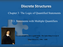 3.3 Statements with Multiple Quantifiers
