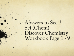 Discover Chemistry Workbook Page 1