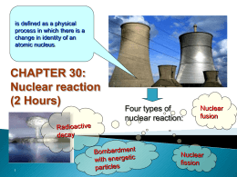 27.1 Nuclear Reaction (1 Hour)