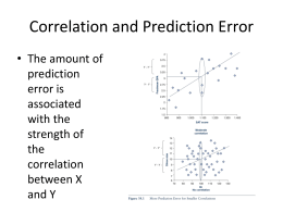 Correlation and Prediction Error